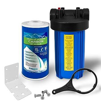 Toda la casa filtro de agua purificador sistema, Big Blue Vivienda con botón de socorro