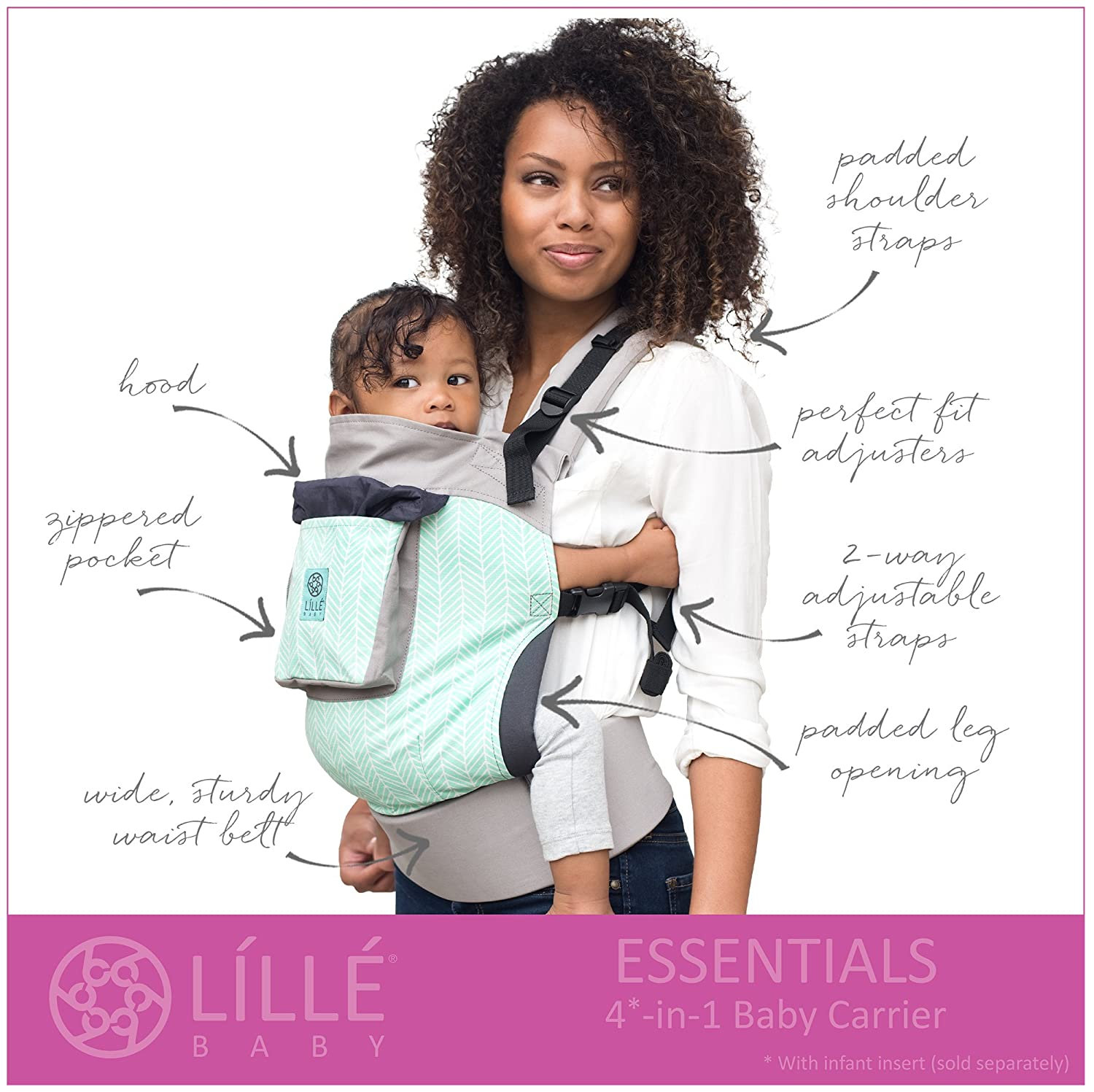 4 In 1 Essentials Baby Carrier By Lillebaby Lily Pond