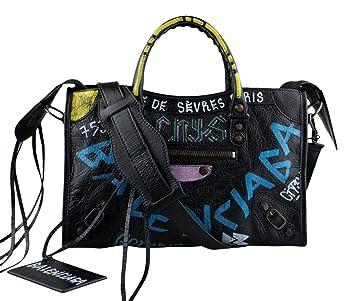de1a99baa4 Amazon.com: Balenciaga Arena Leather Classic City Graffiti Small Bag: Baby