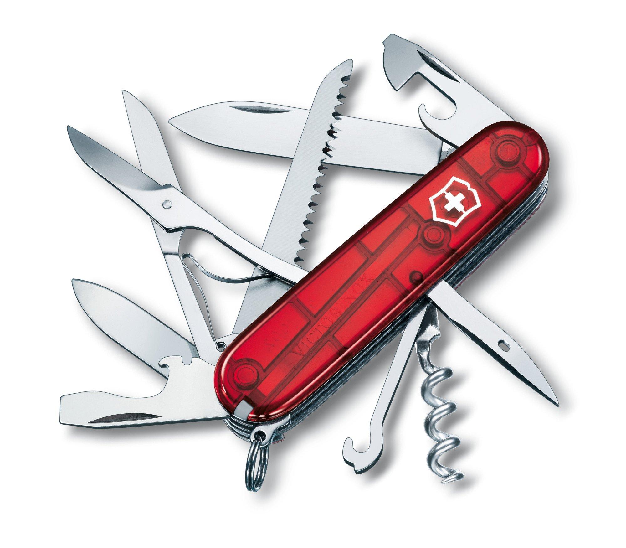 Victorinox Swiss Army Huntsman Pocket Knife (Ruby)