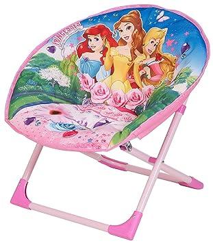 Childrens Kids Disney Princess Moon Chair Seating Bedroom Playroom Furniture