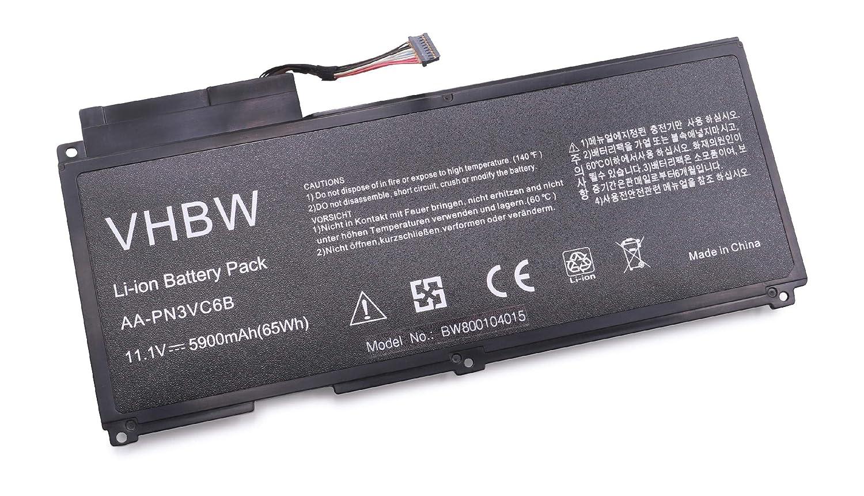 vhbw – Batería de polímero de litio 5900 mAh (11,1 V) para ...