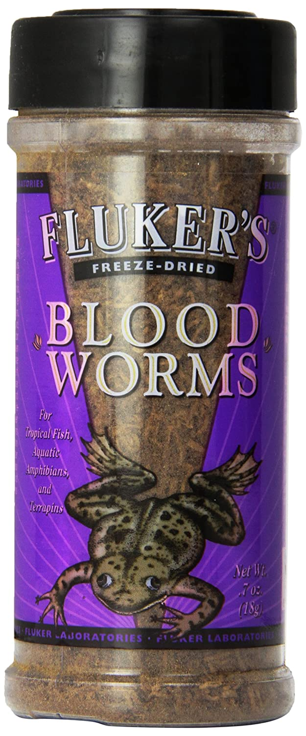 Fluker's 72005 Freeze-Dried Bloodworms Small Animal Food, 7 oz Fluker' s 919070