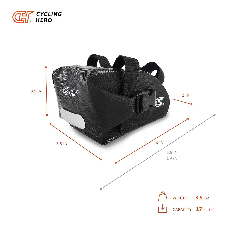Amazon.com: Bolsa compacta impermeable para bicicleta ...