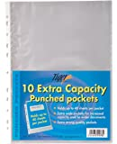 Tiger A4 punched pockets extra capacity pack of 10 wallet sleeves