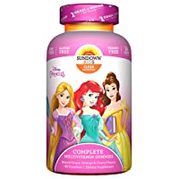 Deals on 180-Count Sundown Kids Disney Princess Complete Multivitamin