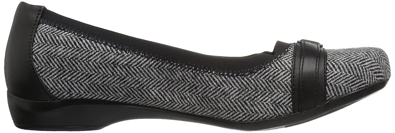 CLARKS Damens's Kinzie Light W Flat, schwarz Tweed, 6 W Light US e7f205