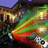 Christmas Laser Lights Projector,Zerhunt Rotating Star Shower Laser Lights Motion Projector For Garden,Hoilday,Landscape Outdoor and Indoor Decorations,Smart IC Protection (2017 New)