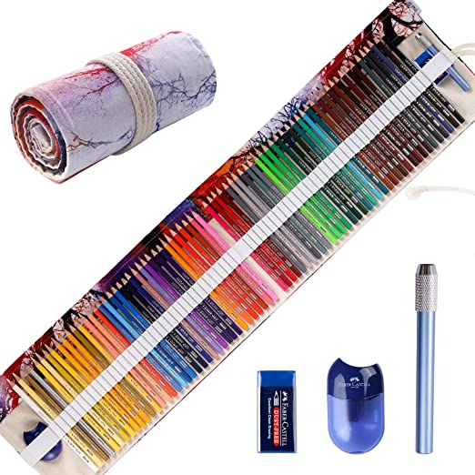Shading /& Coloring Professional Premium Quality Colored Pencils for Adults and Kids 48 oil colored pencils Vibrant Artist Pencils Ideal for Drawing Art Sketching