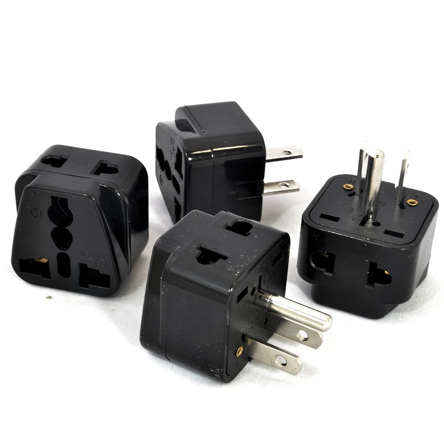 Amazon.com: OREI 2 in 1 Universal to Grounded USA Adapter Plug (Type ...