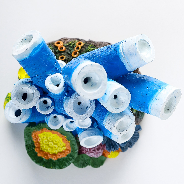 SLSON Aquarium Bulles dair Pierre Ornement Bleu Corail /étoile de mer obturateurs Pompe /à Oxyg/ène R/ésine Crafts D/écorations pour Aquarium