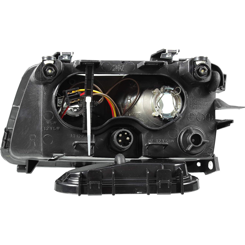 96-00 ohne Nebelleuchte Scheinwerfer Set rechts /& links f/ür A3 8L Bj