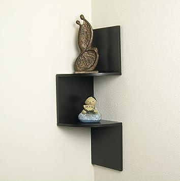 Danya B  Walnut Laminate Corner Shelf. Amazon com  Danya B  Walnut Laminate Corner Shelf  Home   Kitchen