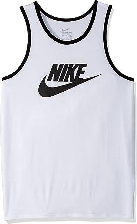 NIKE M NSW Tank Ace Logo - Camiseta de Tirantes, Hombre, Blanco(White/Black/Black): NIKE: Amazon.es: Deportes y aire libre