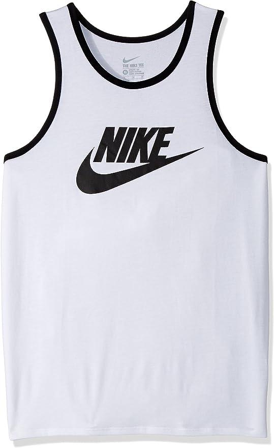 NIKE M NSW Tank Ace Logo - Camiseta de Tirantes, Hombre, Blanco ...