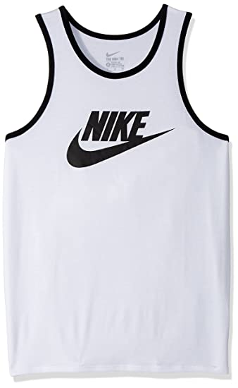 c0339a06b5e1b8 Nike Ace Logo Men s Tank Top White Black Black 779234-100 (Size