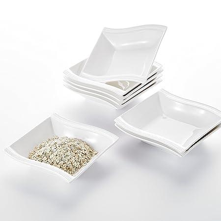 "MALACASA MARIO 6PC 5.5/"" Porcelain China Ceramic Cereal Ice Cream Bowl Dinner Set"