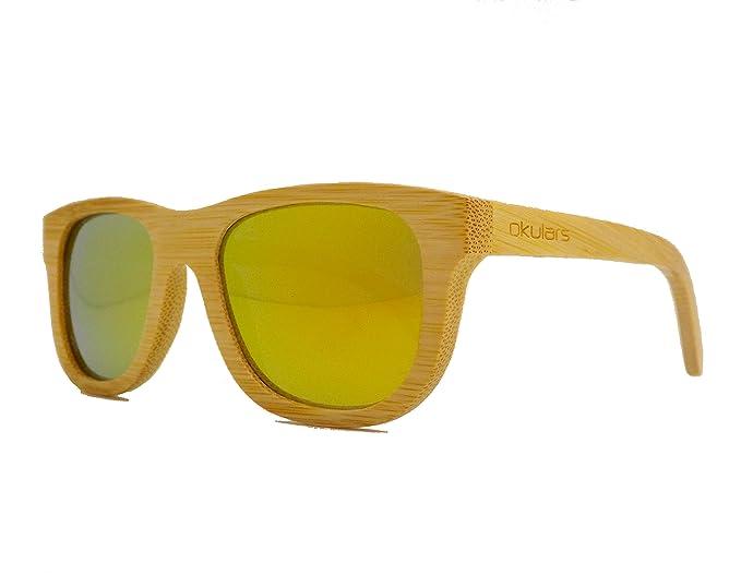 Okulars® Natural Bamboo - Gafas de Sol de Madera para Hombre ...