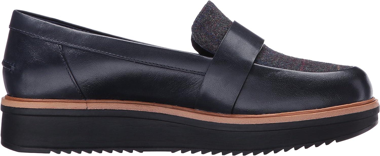 Clarks Elsa Teadale pour Femme Navy Combi Leather