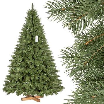 FairyTrees Árbol de Navidad Artificial Picea Real Premium, Material Mix PU y PVC, el Soporte de Madera, 180cm, FT18-180: Amazon.es: Hogar
