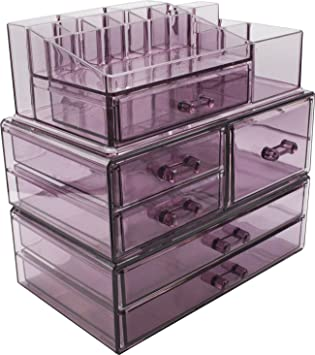 Sorbus Cosmetics Makeup And Jewelry Storage Case Display Sets  Interlocking  Drawers To Create Your Own
