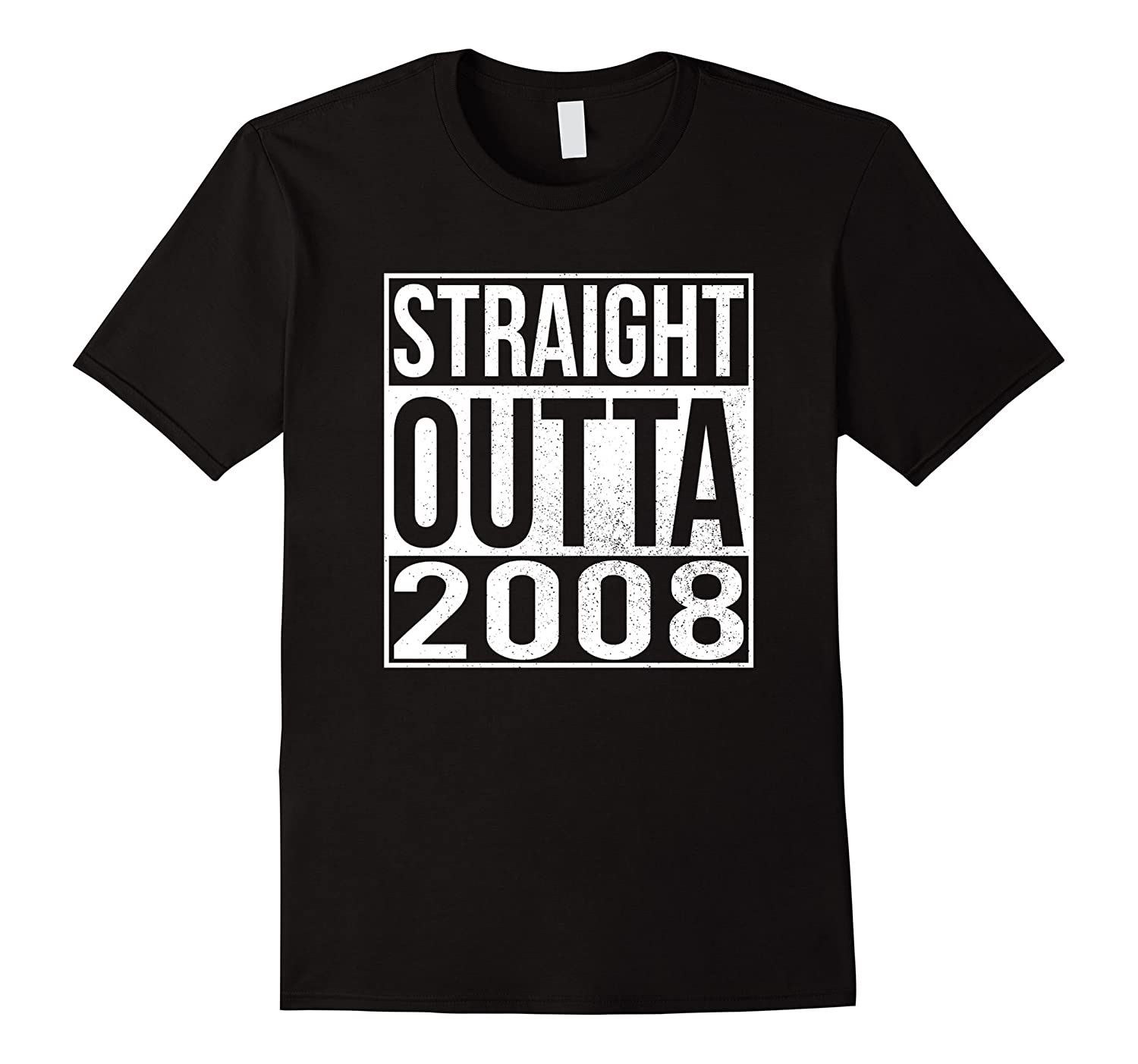 Straight Outta 2008 T-Shirt 9th Birthday Gift for 2017-Vaci