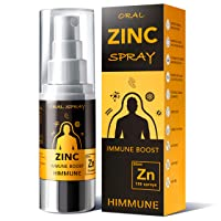 HIMMUNE Ionic Zinc Spray - Fast Acting Immune Support, Maximum Absorbption Zinc w/Vitamin B5 - Liquid Zinc - Immune System Booster - Zinc Acetate Supplement for Men and Women