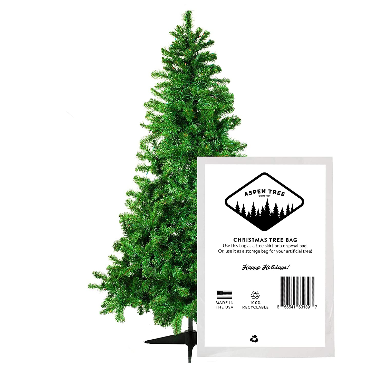 Christmas Tree Disposal.Aspen Tree Co Christmas Tree Disposal Or Storage Bag Fits Up To 9 Foot Tree 12 X 7 5 144 Diameter