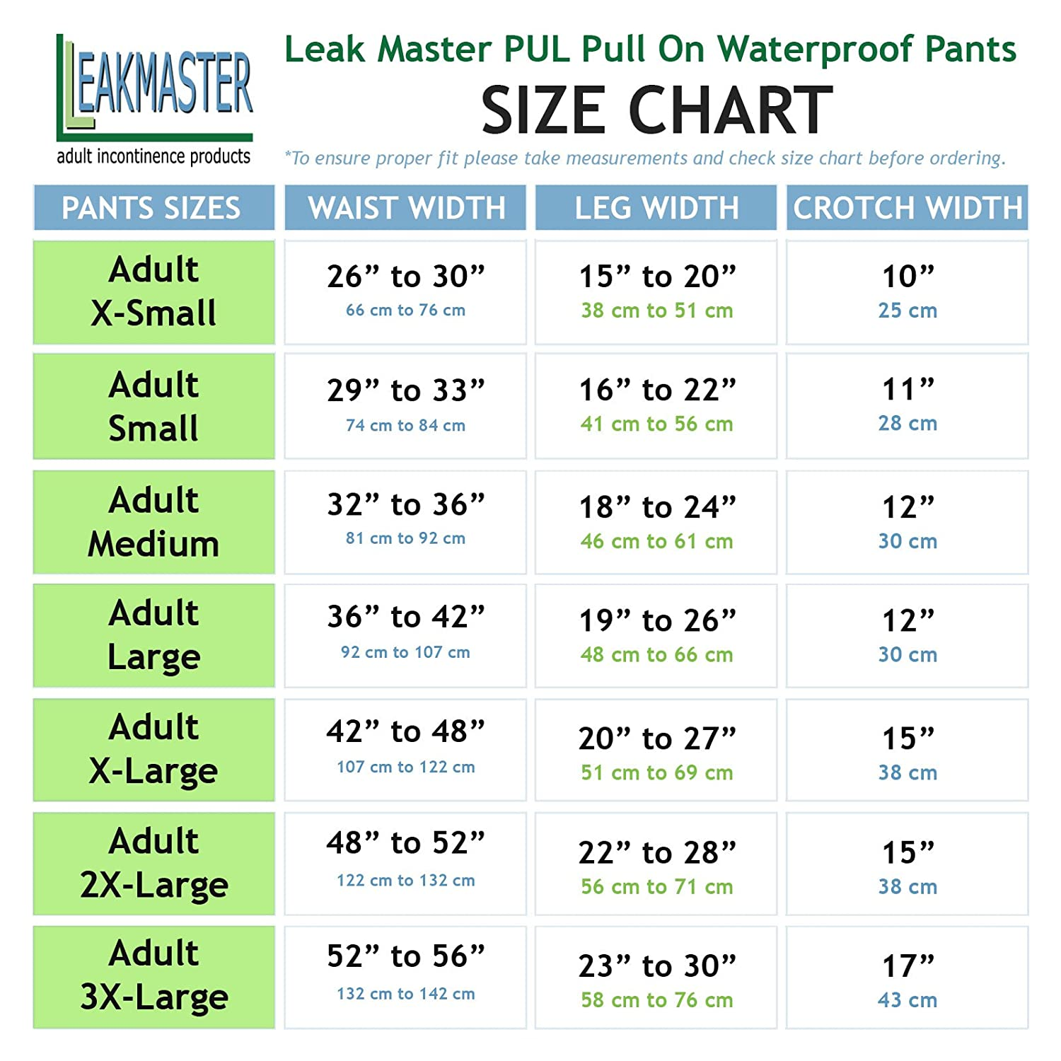 Amazon.com: LeakMaster - Adult PUL Waterproof Pants- Comfortable, Quiet and Effective Adult Diaper Pant For Men Or Women Made Of Quality Poly Urethane ...