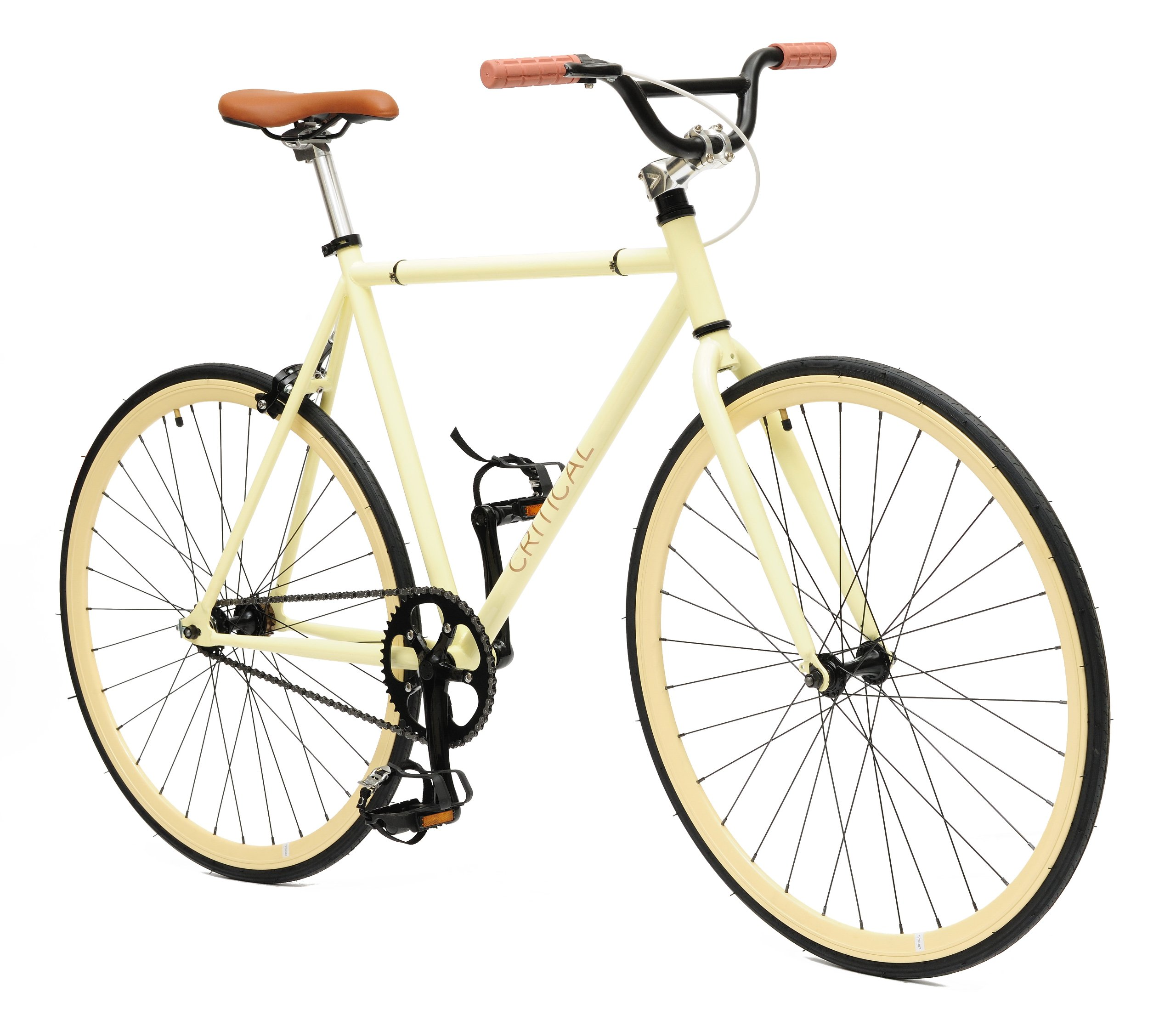 fixie bike Critical Cycles Fixed Gear Single Speed Fixie Urban Road Bike Tan, La
