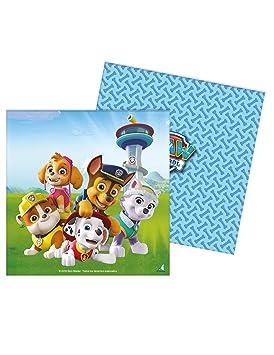 Generique - 20 Servilletas de Papel Patrulla Canina 33 x 33 cm: Amazon.es: Juguetes y juegos