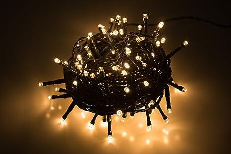Krismase Tira de 300 Luces LED Decorativas con 8 Modos de iluminación, a Prueba de