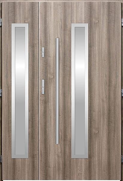 Magellan Duo Exterior Double Entry Doorfront Doors With Sidelites