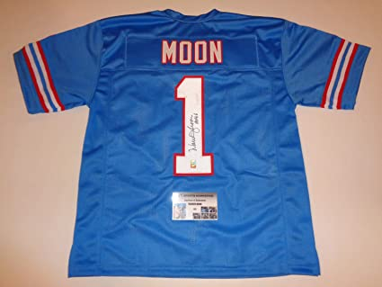 Image Unavailable. Image not available for. Color  WARREN MOON autographed  signed Oilers blue Jersey HOF 06 GTSM Moon Holo   COA 3b3ef6e5c