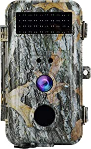 Trail & Game Hunting Camera with Night Vision 16MP for Hunter Outdoor Scouting Wildlife and Indoor Home Security Surveillance Motion Activated Waterproof Photo and Video Model Time Lapse & Time Stamp