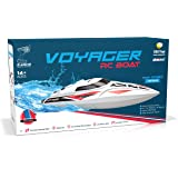 UDI007 Voyager Remote Control Boat for Pools & Lakes - 2.4GHz High Speed Electric RC Boat – Large Self Righting Radio Controlled Boat w/ BONUS BATTERY