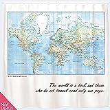 Rideau de douche carte du monde bricolage - Rideau de douche carte du monde ...