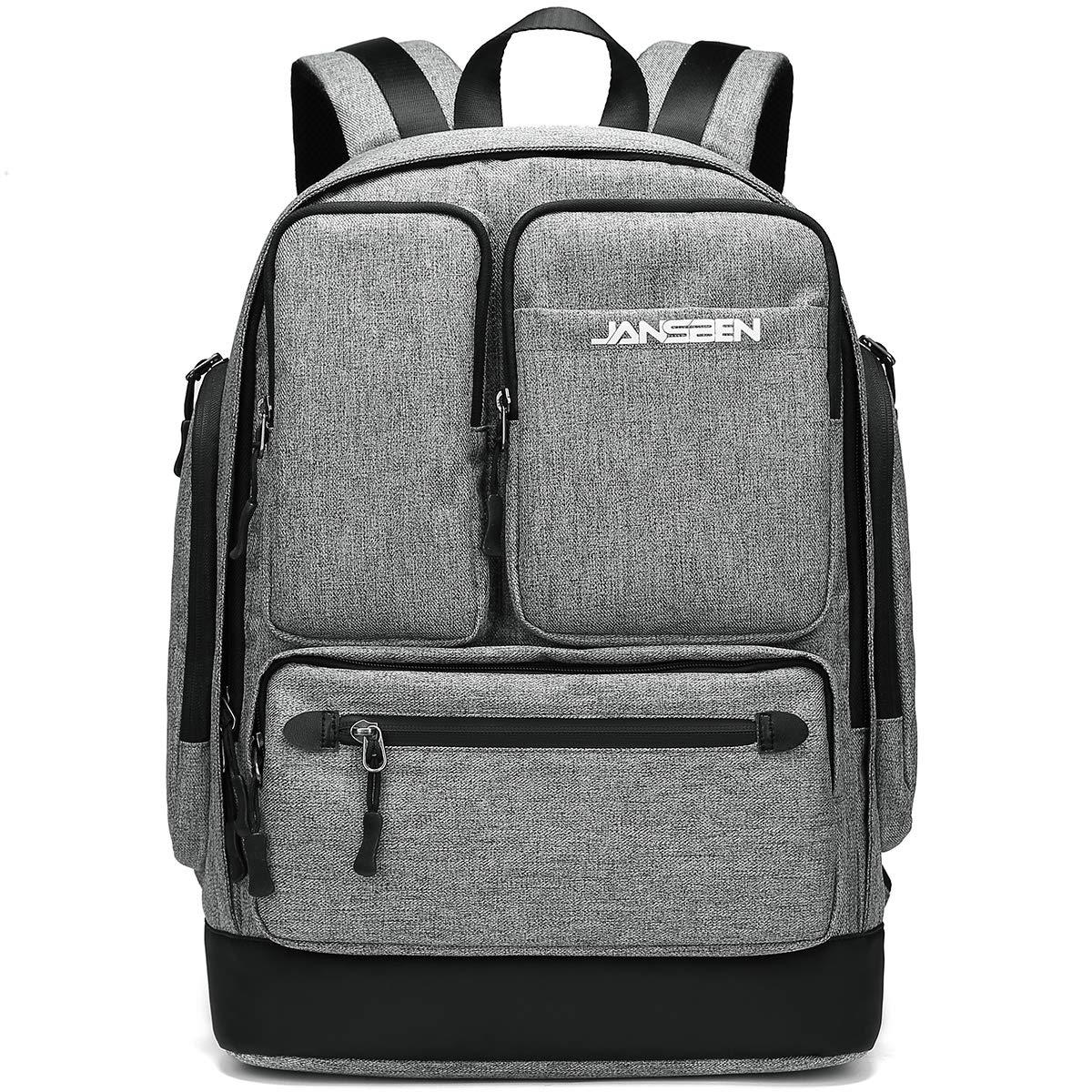 JANSBEN Impermeabile Laptop Zaino per Donna Uomo Scuola Backpack con porta di ricarica USB balck Casual Business Uni Zaino Universit/à Daypack per 15.6 pc Cumputer