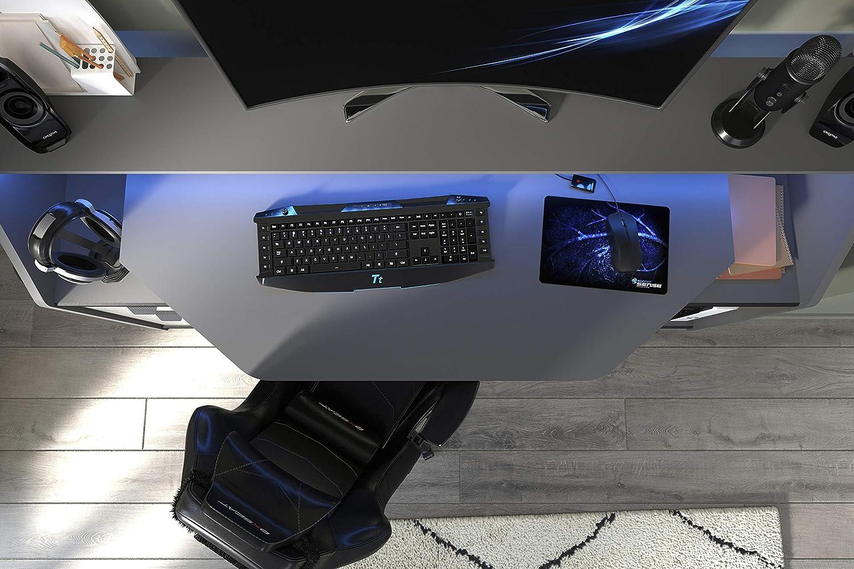 Parisot Computer Set Up Bureau Gris Carbone