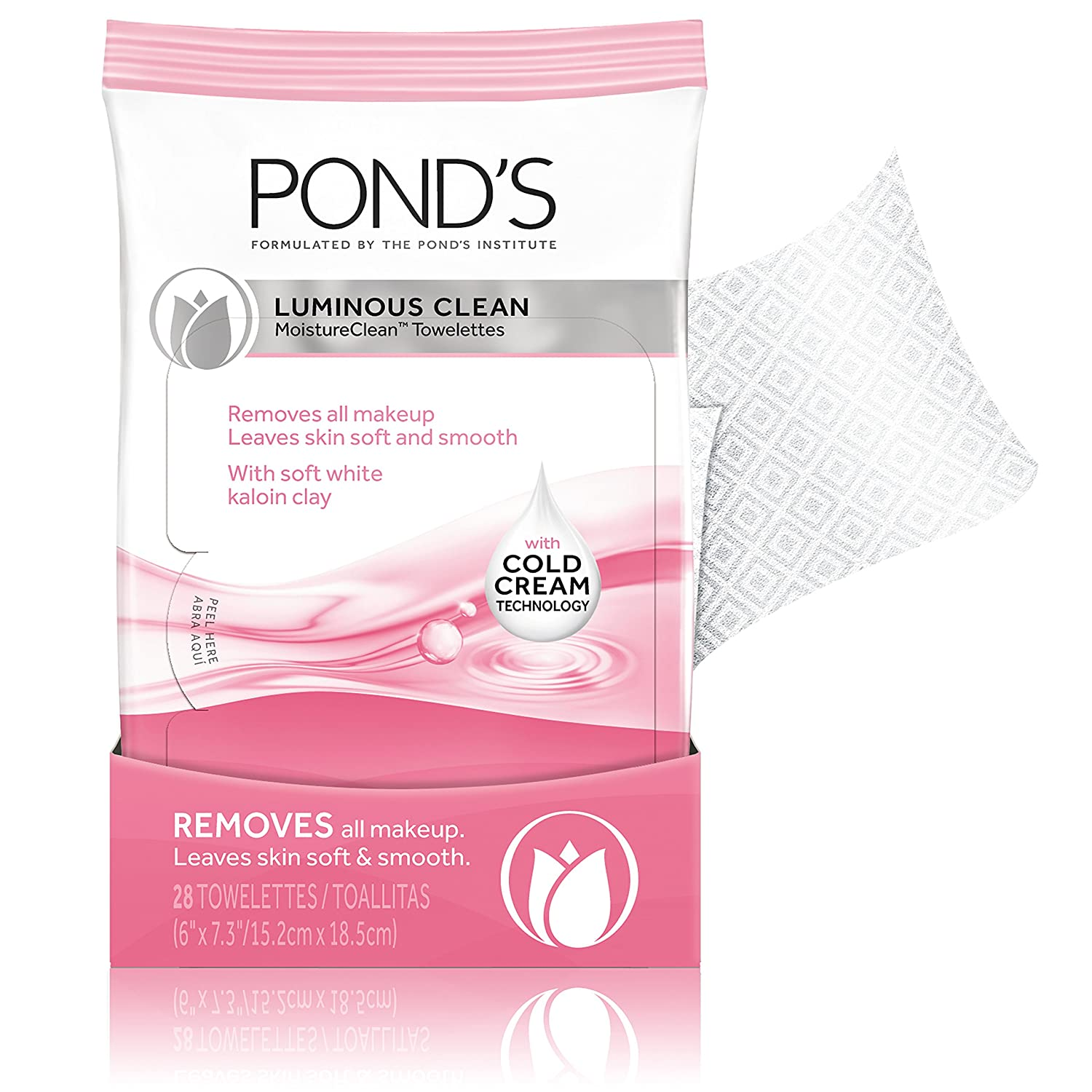 Amazon.com: Ponds Moisture Clean Towelettes, Luminous Clean 28 ct (Pack of 3): Beauty