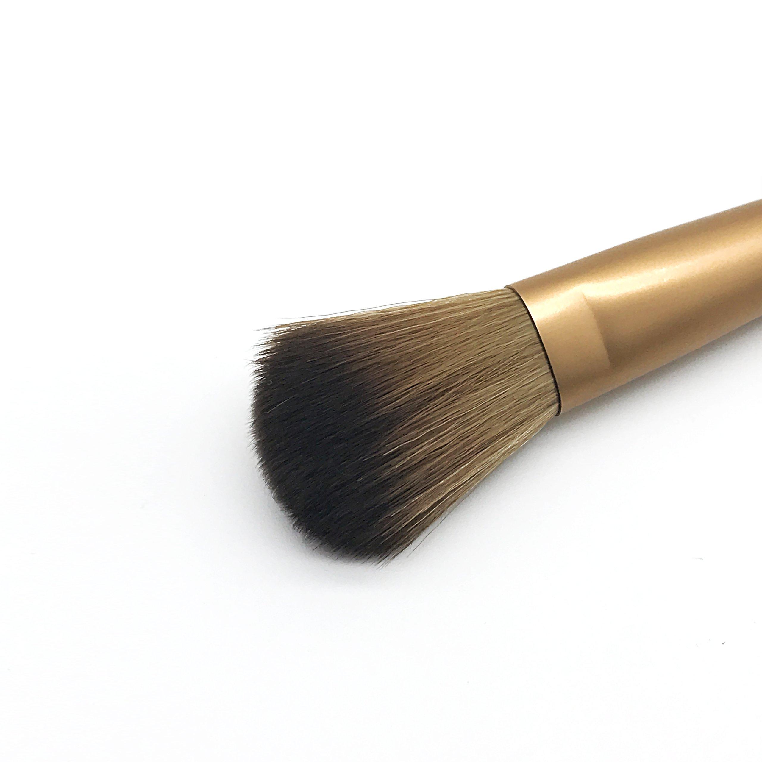 YoTruth 8 pcs Premium Comestic Brushes set Foundation Blending Blush Eyeliner Face Powder Brush Soft Comfortable Skin-friendly with PU Leather Bag (Silver)