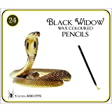 Black Widow ® Colored Pencils for Adults, the Best Color Pencil Set for Adult Coloring Books, A Quality 24 Piece Blackwood Drawing Kit Available to Use. Cobra Edition