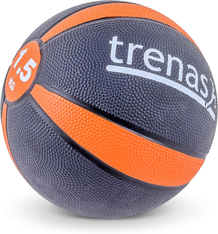 trenas Balón Medicinal de Goma Pro – 1,5 kg: Amazon.es: Deportes y ...