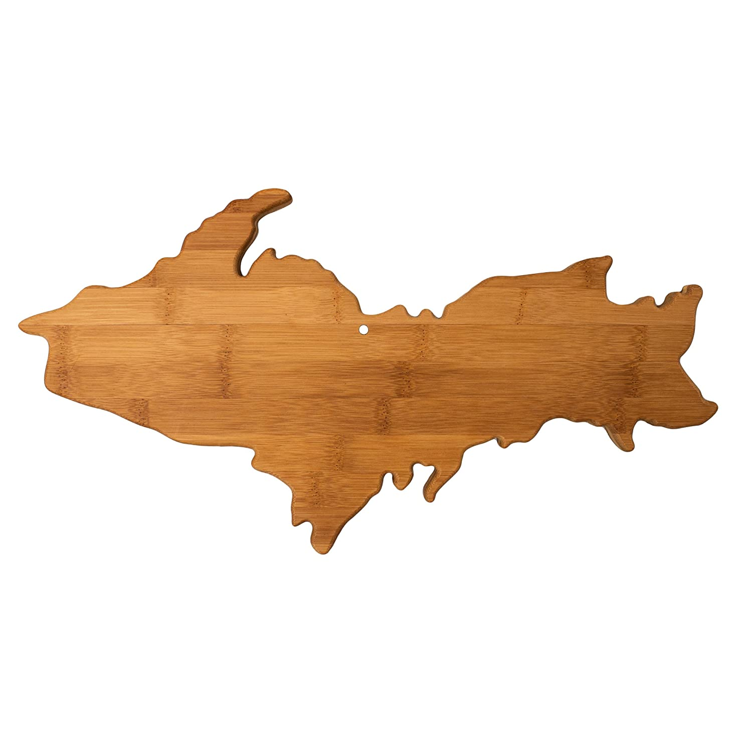 Totally Bamboo 20-8009UP Upper Peninsula Shaped Bamboo Serving & Cutting Board, Michigan