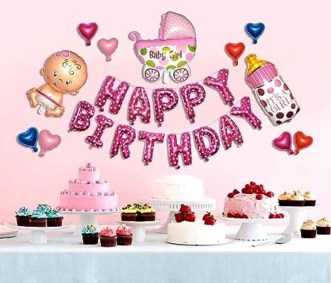 Strange Amazon Com Happy Birthday Baby Girl New Born One Year Old Baby Funny Birthday Cards Online Necthendildamsfinfo
