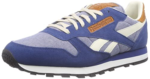 843dd180a428 Reebok - CL Leather CH - Color  Blue-Grey - Size  6.5UK  Amazon.co ...