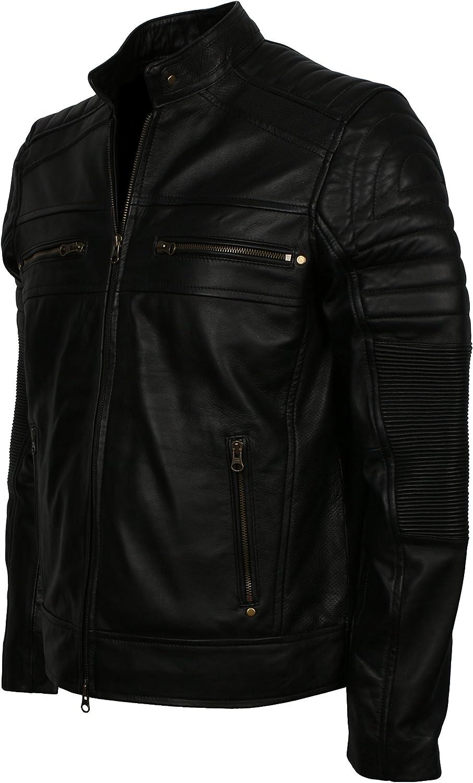 LeatherArtistics Premium Leather Motorcycle Soft Genuine Leather Arm Padded Design Biker Jacket Black 5XL