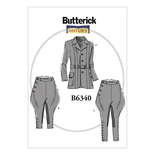 Edwardian Sewing Patterns- Dresses, Skirts, Blouses, Costumes  Banded Jacket Breeches & Jodhpurs XM (Small-Medium-Large) $9.99 AT vintagedancer.com