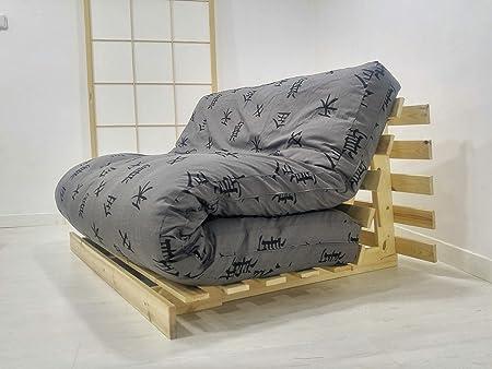 Futon On Line divano letto roots, naturale, Custodia Grigio ...
