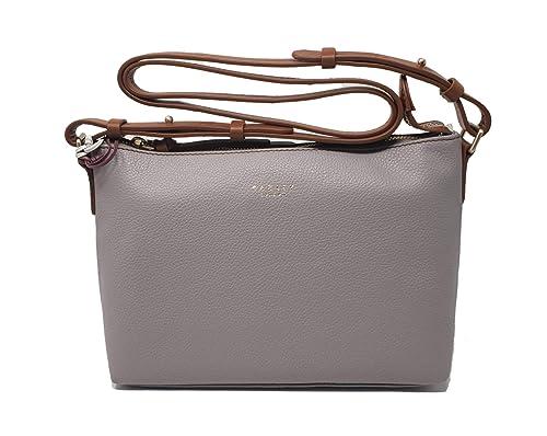 Radley Guildhall medium ziptop across body bag in grey leather   Amazon.co.uk  Shoes   Bags 9b3c80812dbe5